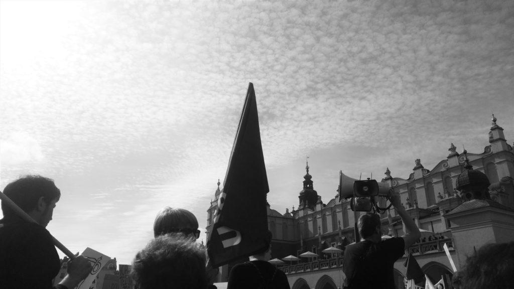 czarny protest w Krakowie