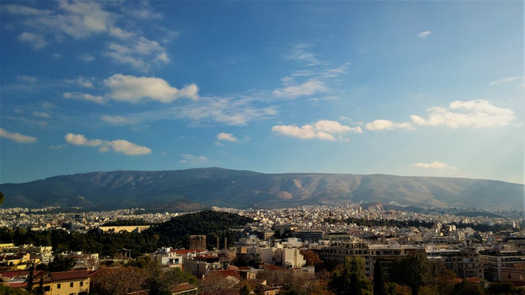 widok na Ateny
