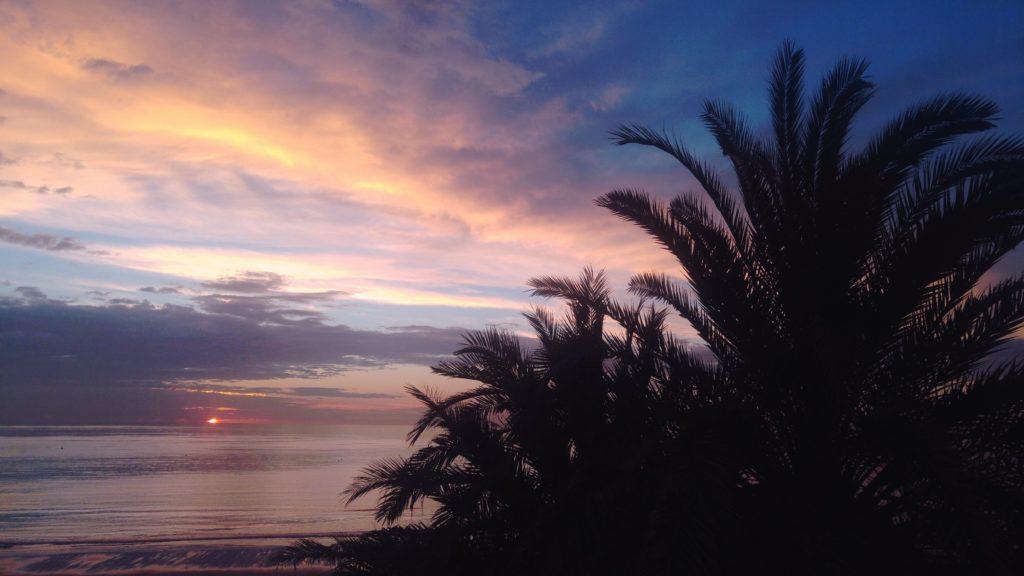 Playa del Ingles Wschód Słońca Gran Canaria 2017