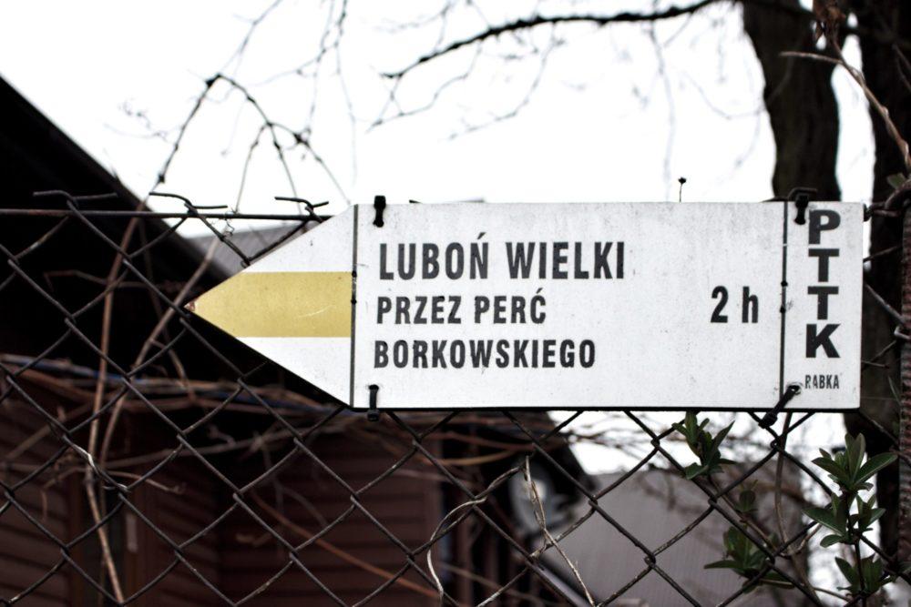 Luboń Wielki szlak żółty przez perć Borkowskiego